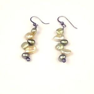 Jewelry - Baroque & Seed Pearl Dangle Earrings French Wire